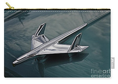 Chrome Airplane Hood Ornament Carry-all Pouch