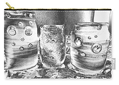 Carry-all Pouch featuring the photograph Chromed Halloween  Mummies by Belinda Lee