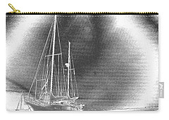 Chromed Sailboats In Key Largo Carry-all Pouch by Belinda Lee