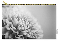 Chrysanthemum In Black And White Carry-all Pouch