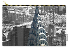 Carry-all Pouch featuring the photograph Chrysler Building by Angela DeFrias