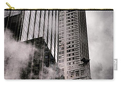 Chrysler Building With Gargoyles And Steam Carry-all Pouch