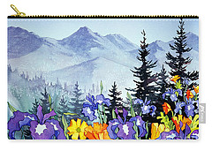 Carry-all Pouch featuring the painting Chugach Summer by Teresa Ascone