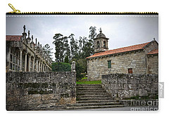 Church And Cemetery In A Small Village In Galicia Carry-all Pouch
