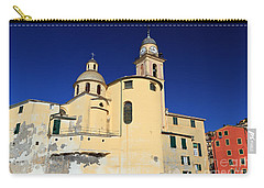 Carry-all Pouch featuring the photograph Church In Camogli by Antonio Scarpi