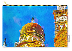 Carry-all Pouch featuring the painting Church Of Madonna Dell'orto by Greg Collins