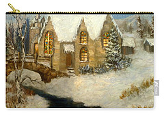 Church Snow Paintings Carry-all Pouch