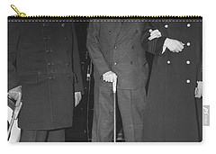 Churchill And Roosevelt Carry-all Pouch by Underwood Archives