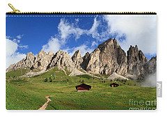 Carry-all Pouch featuring the photograph Cir Group - Gardena Pass by Antonio Scarpi