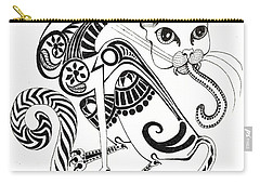 Circle Cat Carry-all Pouch