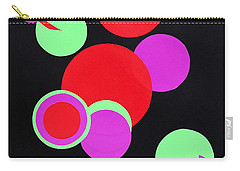 Carry-all Pouch featuring the mixed media Circle Study One by Michele Myers