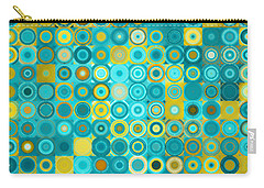 Circles And Squares 6. Modern Home Decor Art Carry-all Pouch