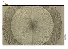 Carry-all Pouch featuring the drawing Circles Don't Exist Two Degree Frequency by Jason Padgett