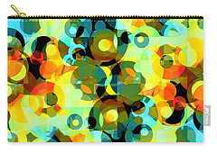 Carry-all Pouch featuring the digital art Circles Squared 2 by Shawna Rowe