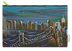 Carry-all Pouch featuring the painting Citiscape by Donna Blossom