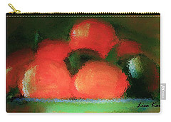 Carry-all Pouch featuring the painting Citrus In Pottery Bowl by Lisa Kaiser