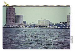 Carry-all Pouch featuring the photograph City Across The Sea by Thomasina Durkay