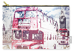 City-art London Red Buses On Westminster Bridge Carry-all Pouch