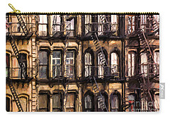 City Brownstones Carry-all Pouch by Diane Diederich