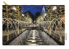 Carry-all Pouch featuring the photograph City Creek Fountain - 2 by Ely Arsha