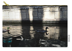 Carry-all Pouch featuring the photograph City Ducks by Shawn Marlow