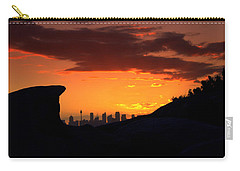 Carry-all Pouch featuring the photograph City In A Palm Of Rock by Miroslava Jurcik
