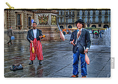 Carry-all Pouch featuring the photograph City Jugglers by Ron Shoshani