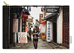 Carry-all Pouch featuring the photograph City Life In Ancient China by Lucinda Walter