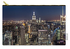 Carry-all Pouch featuring the photograph City Lights by Mihai Andritoiu