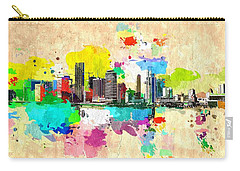 City Of Miami Grunge Carry-all Pouch by Daniel Janda