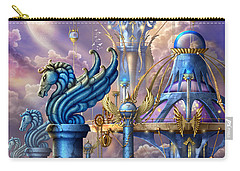 City Of Swords Carry-all Pouch by Ciro Marchetti