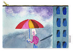 City Rain Carry-all Pouch by Frank Bright