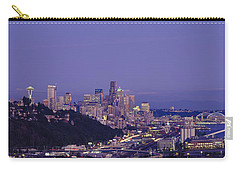 City Skyline At Dusk, Seattle, King Carry-all Pouch by Panoramic Images