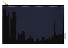 Carry-all Pouch featuring the digital art City Skyline... by Tim Fillingim