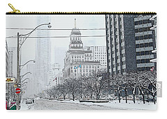 City In Winter Carry-all Pouch by Yvonne Wright
