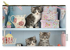 Baking Shelf Kittens Carry-all Pouch by Greg Cuddiford