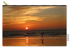 Clam Digging At Sunset - 3 Carry-all Pouch