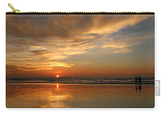 Clam Digging At Sunset - 4 Carry-all Pouch