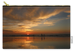 Clam Digging At Sunset -1  Carry-all Pouch