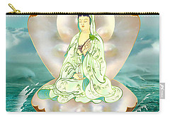 Clam-sitting Kuan Yin Carry-all Pouch