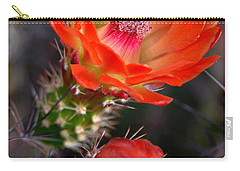 Claret Cup Cactus Carry-all Pouch by Deb Halloran