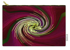 Claret Red Swirl Clematis Carry-all Pouch by Debbie Oppermann