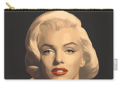 Classic Beauty In Graphic Gray Carry-all Pouch by Chris Consani