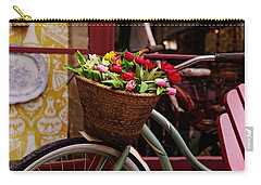 Classic Bike With Tulips Carry-all Pouch