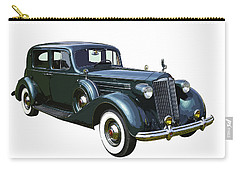 Classic Green Packard Luxury Automobile Carry-all Pouch by Keith Webber Jr