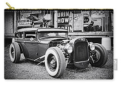 Classic Hot Rod In Black And White Carry-all Pouch