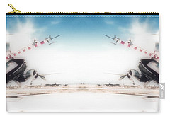 Carry-all Pouch featuring the photograph Propeller Aircraft by R Muirhead Art