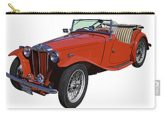 Classic Red Mg Tc Convertible British Sports Car Carry-all Pouch by Keith Webber Jr