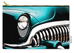 Classic Turquoise Buick Carry-all Pouch