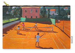 Clay Court Tennis Carry-all Pouch by Andrew Macara
